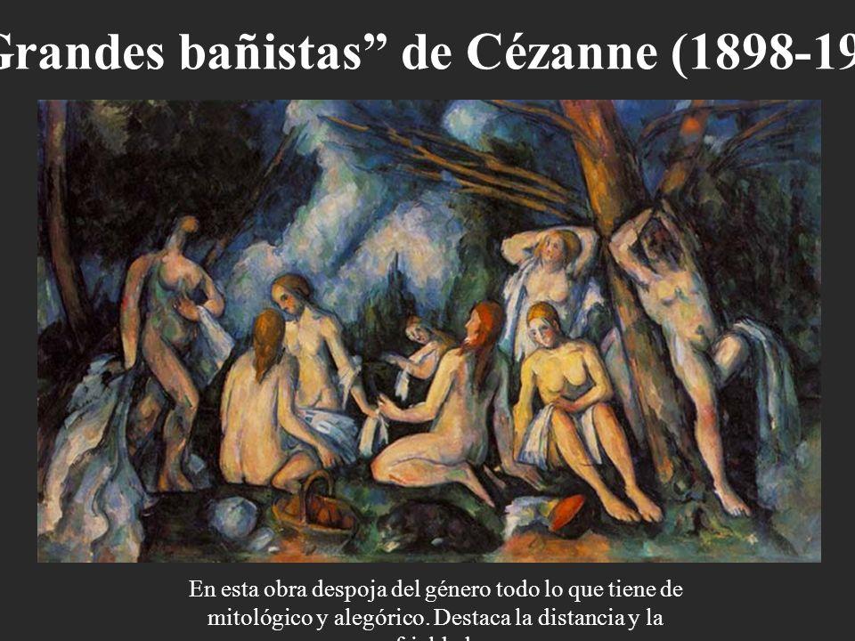 Grandes bañistas de Cézanne (1898-1905).