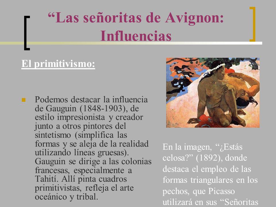 Las señoritas de Avignon: Influencias