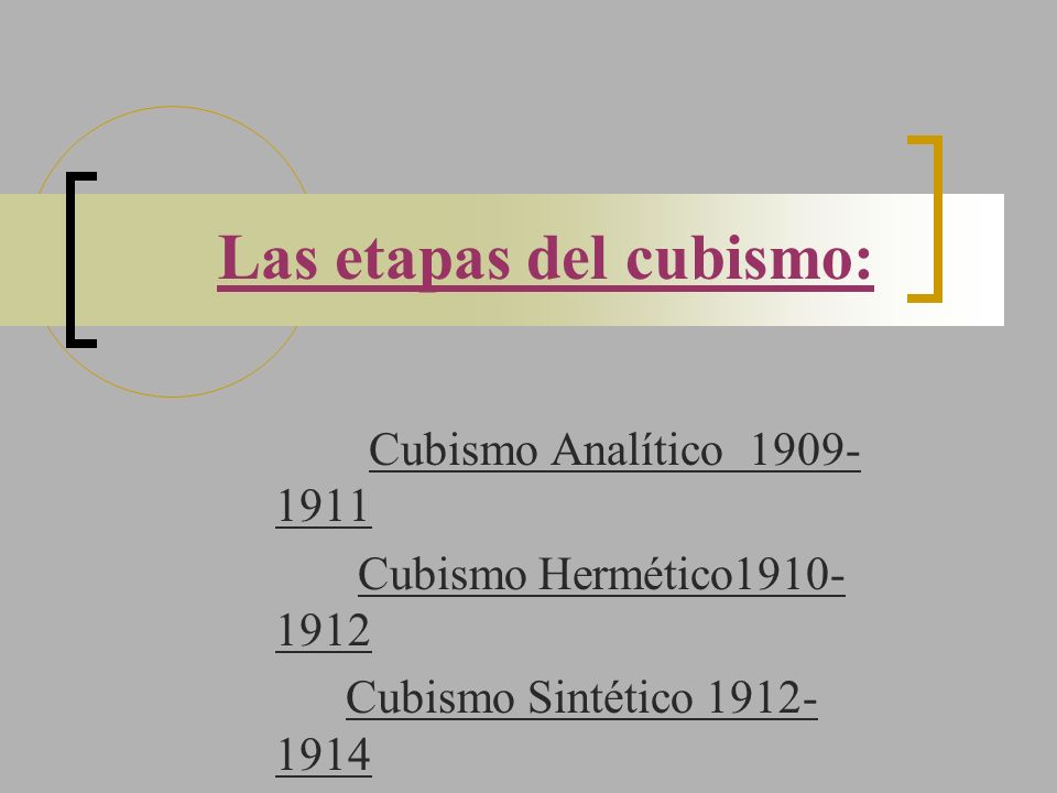 Las etapas del cubismo: