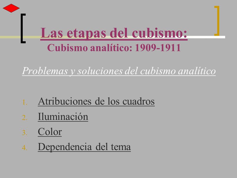 Las etapas del cubismo: Cubismo analítico: 1909-1911