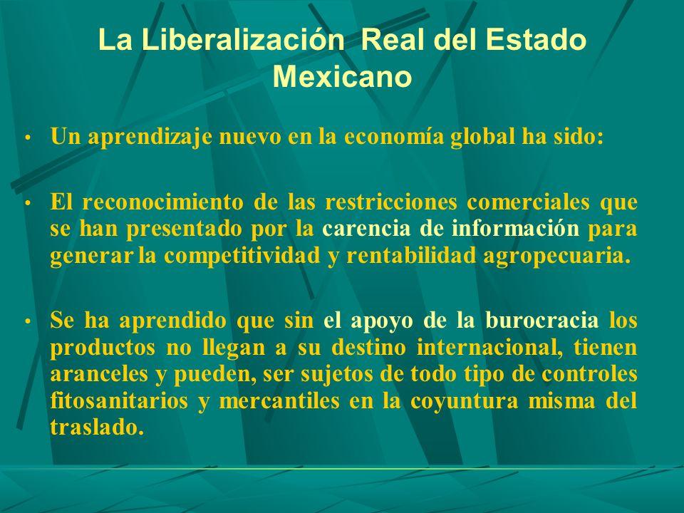 La Liberalización Real del Estado Mexicano