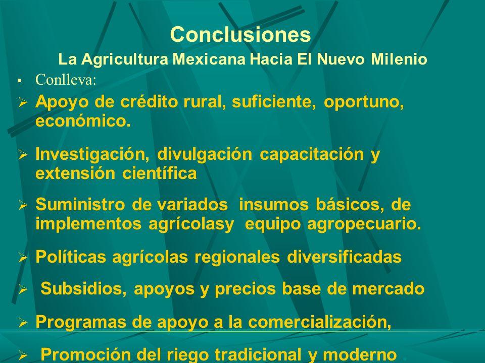 Conclusiones La Agricultura Mexicana Hacia El Nuevo Milenio