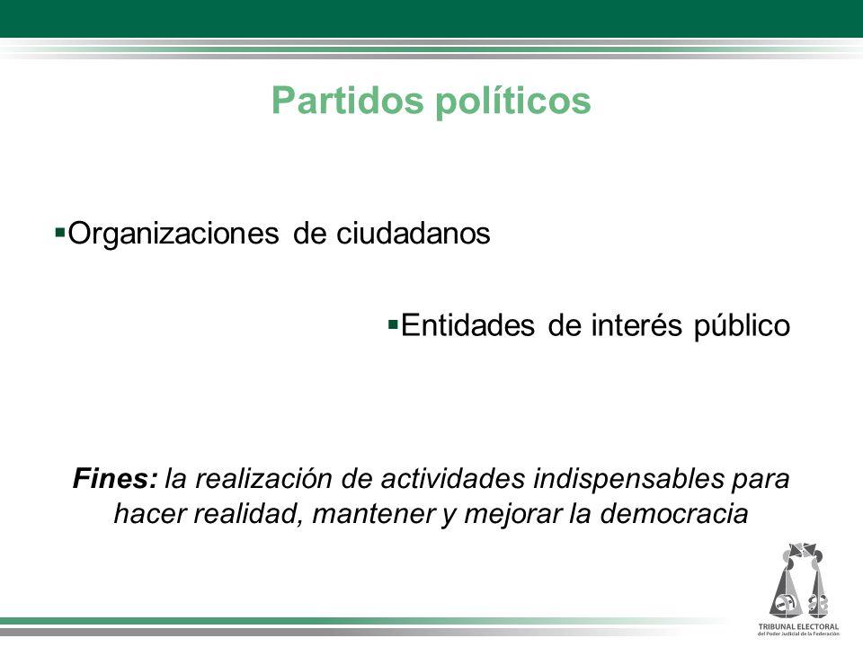 Partidos políticos Organizaciones de ciudadanos