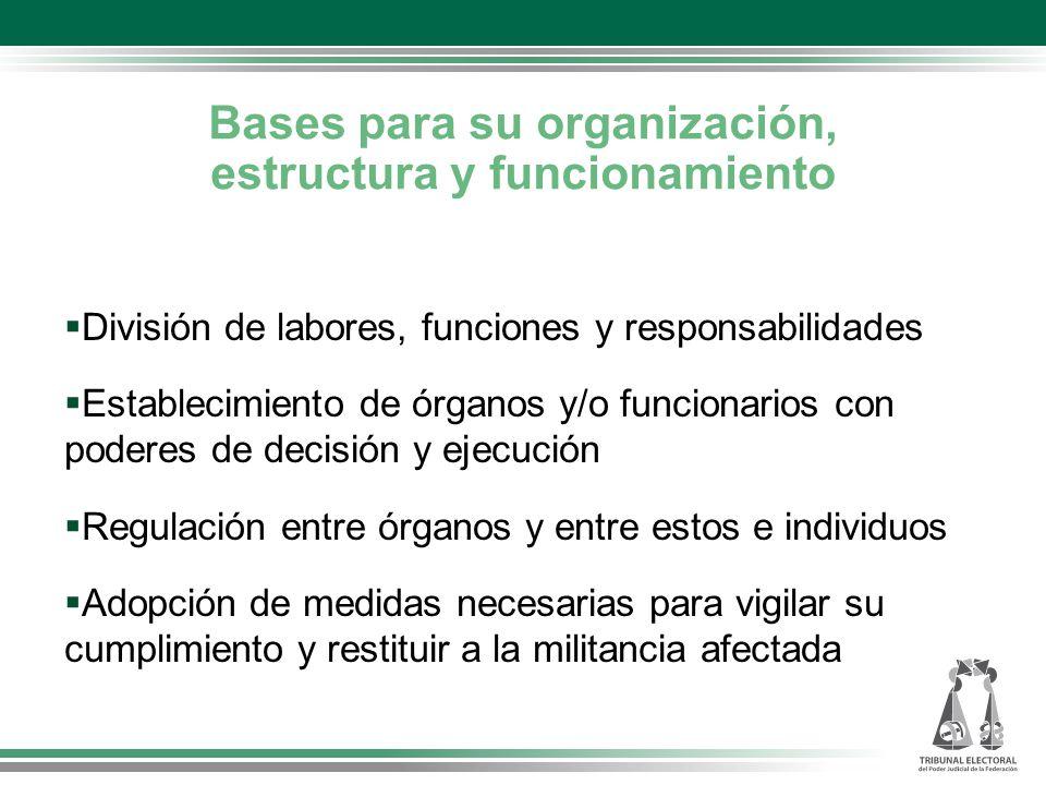 Bases para su organización, estructura y funcionamiento