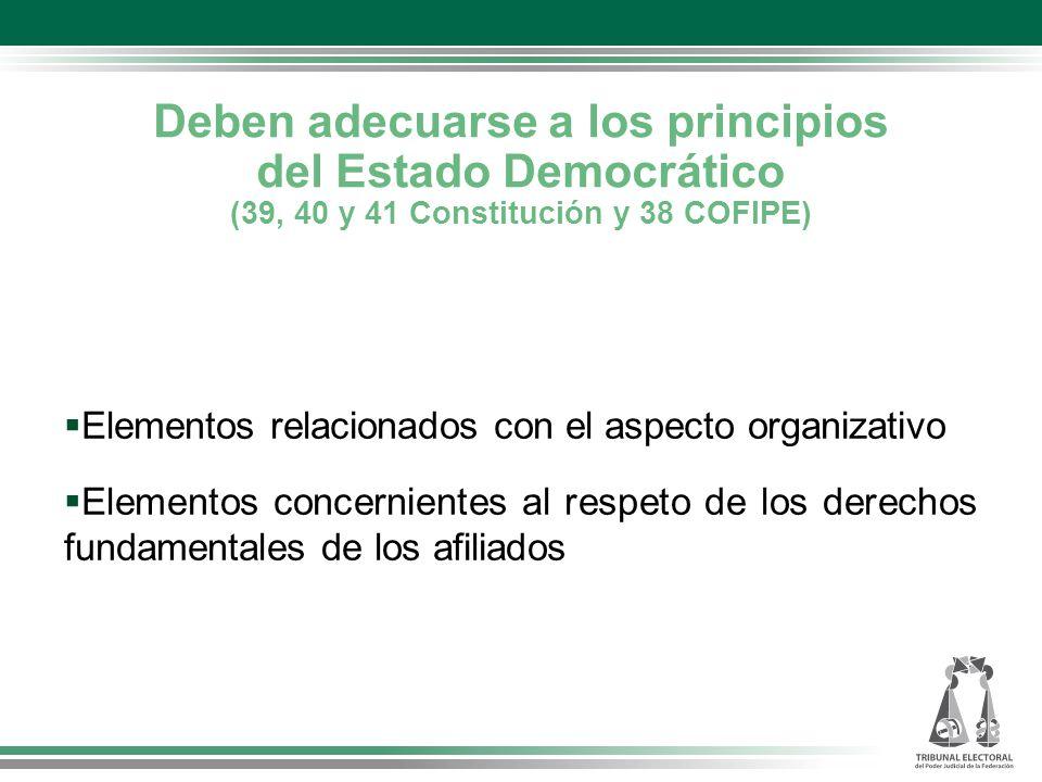 Deben adecuarse a los principios del Estado Democrático