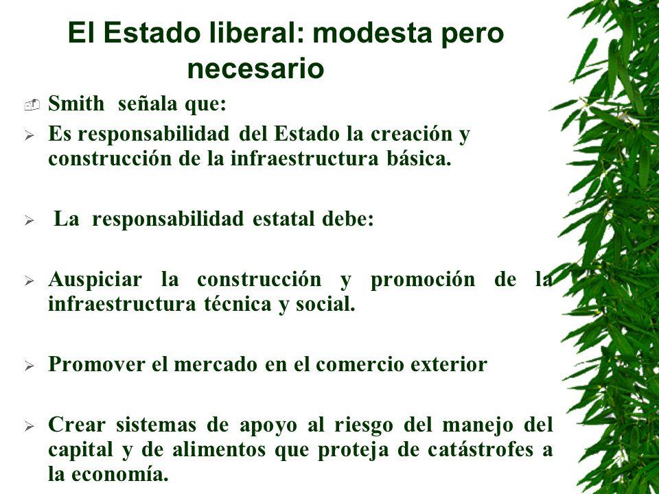 El Estado liberal: modesta pero necesario