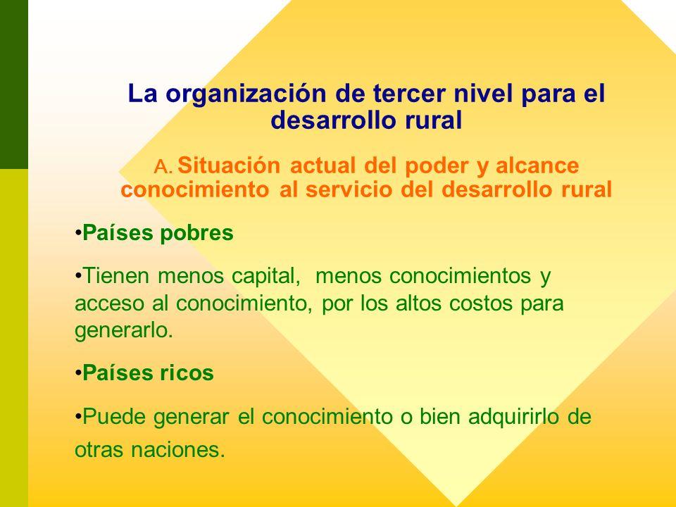 La organización de tercer nivel para el desarrollo rural A