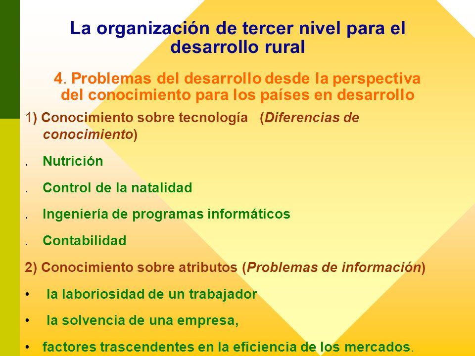La organización de tercer nivel para el desarrollo rural 4