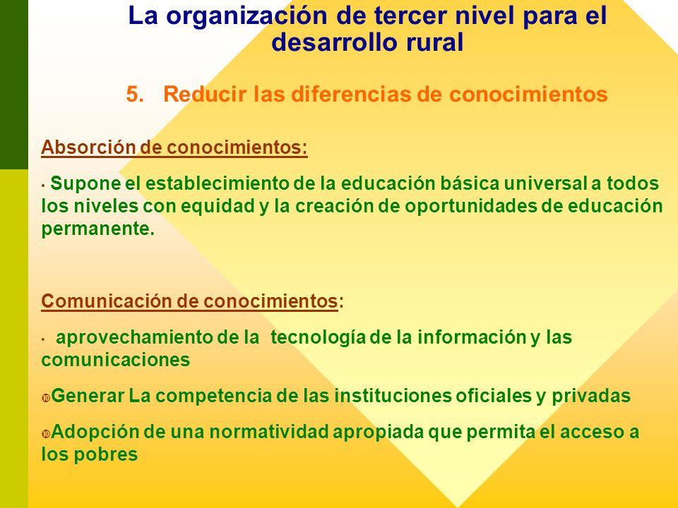 La organización de tercer nivel para el desarrollo rural 5