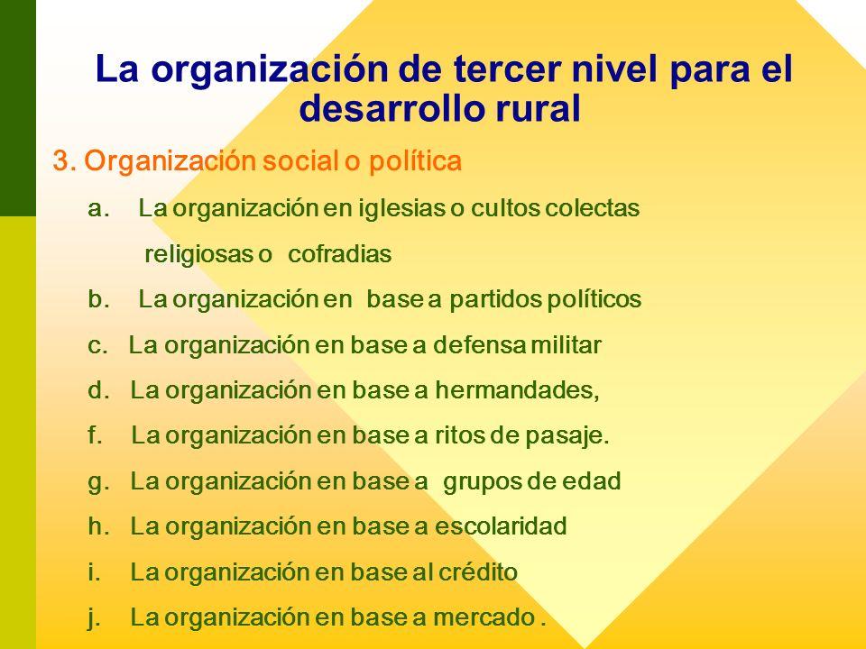 La organización de tercer nivel para el desarrollo rural