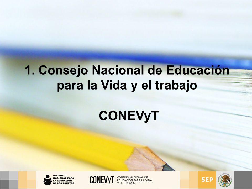 1. Consejo Nacional de Educación para la Vida y el trabajo