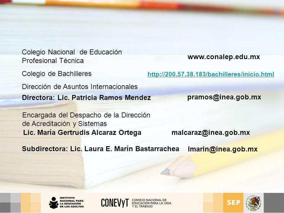 Lic. María Gertrudis Alcaraz Ortega