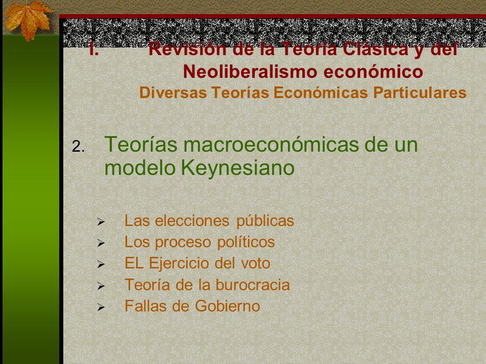 Teorías macroeconómicas de un modelo Keynesiano