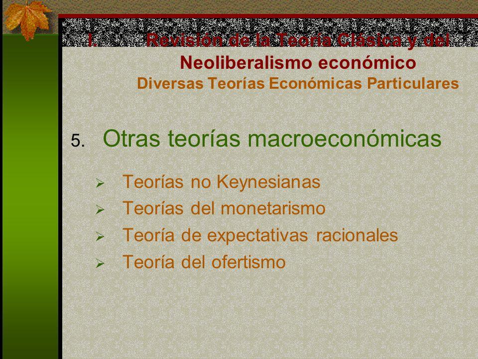 Otras teorías macroeconómicas