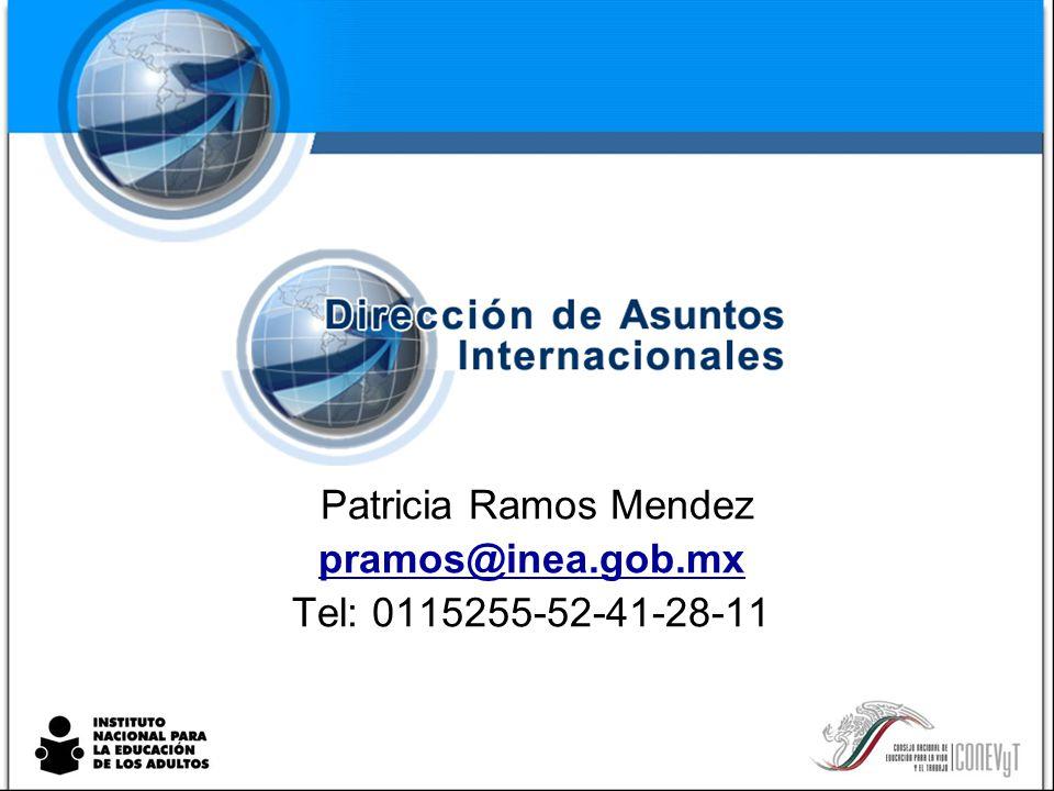 Patricia Ramos Mendez pramos@inea.gob.mx Tel: 0115255-52-41-28-11
