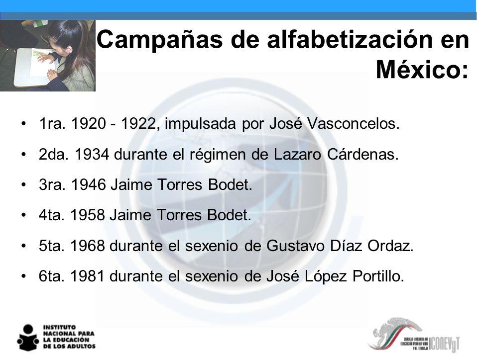 Campañas de alfabetización en México: