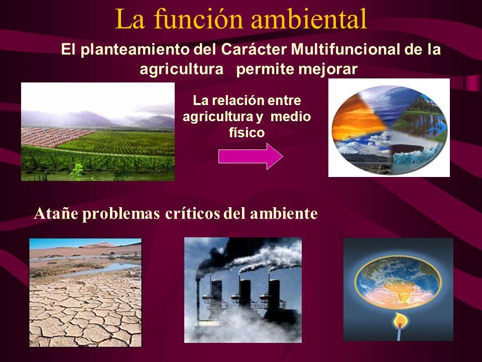 La relación entre agricultura y medio físico
