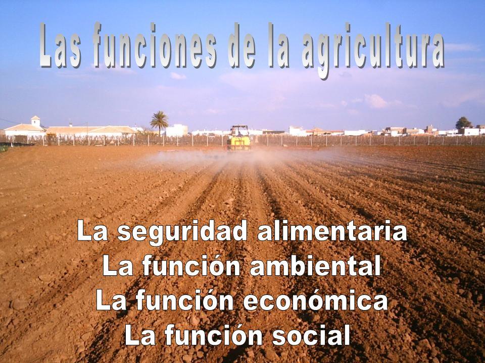 Las funciones de la agricultura