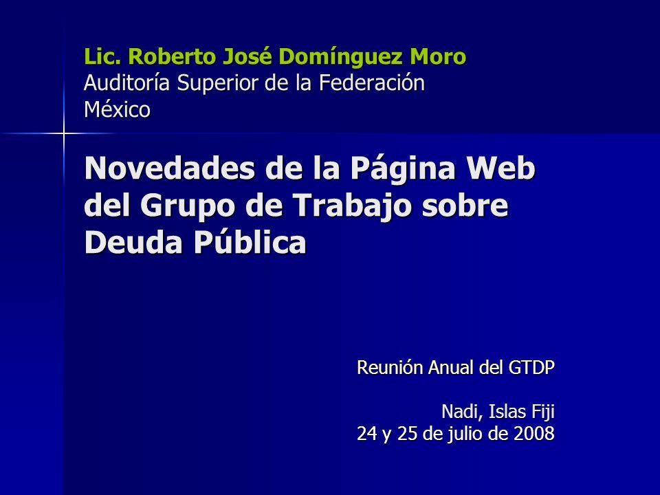 Reunión Anual del GTDP Nadi, Islas Fiji 24 y 25 de julio de 2008