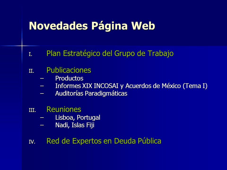 Novedades Página Web Plan Estratégico del Grupo de Trabajo