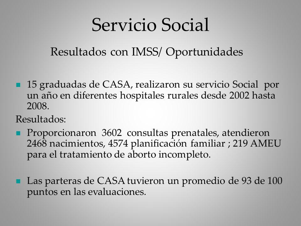 Resultados con IMSS/ Oportunidades