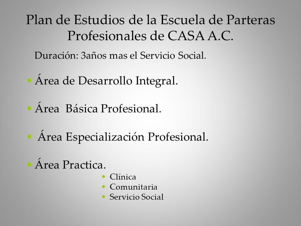 Plan de Estudios de la Escuela de Parteras Profesionales de CASA A.C.