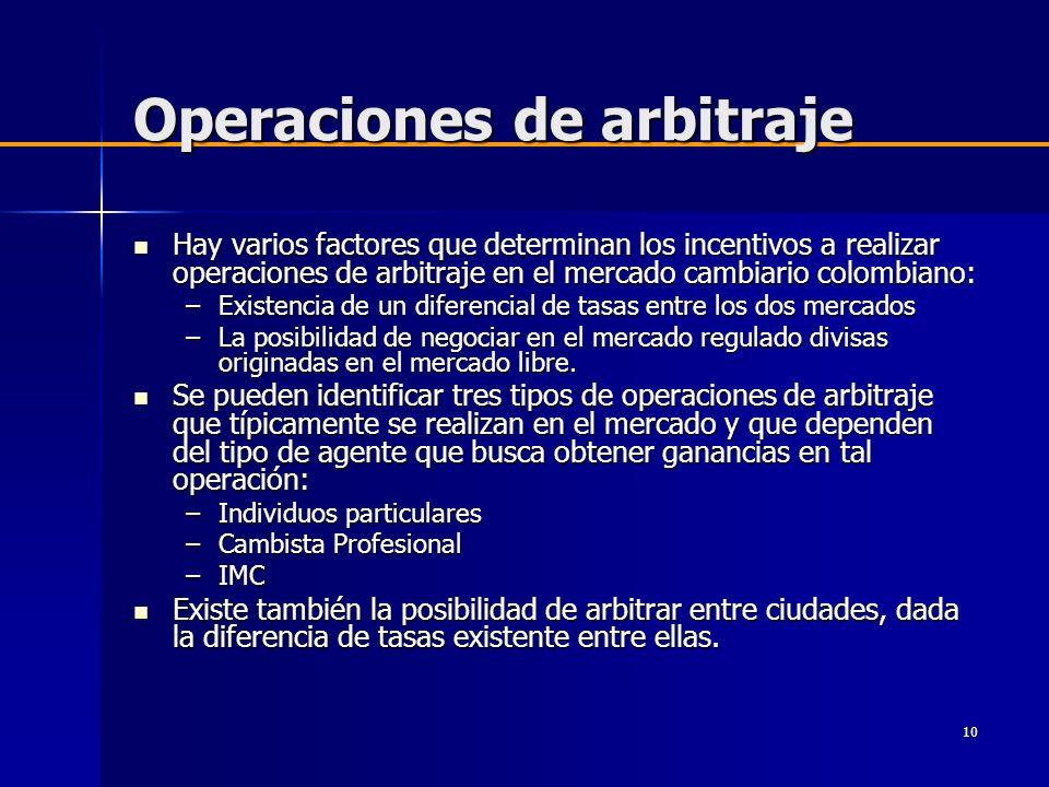 Operaciones de arbitraje