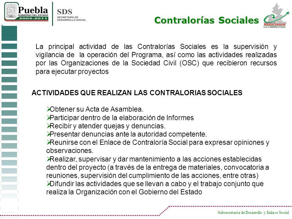 Contralorías Sociales