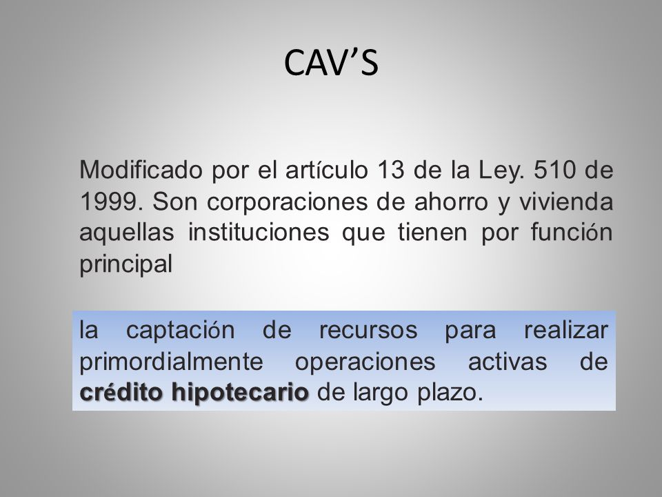 CAV'S