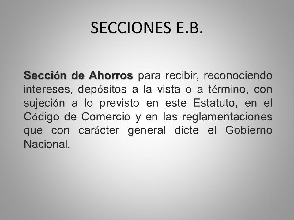 SECCIONES E.B.