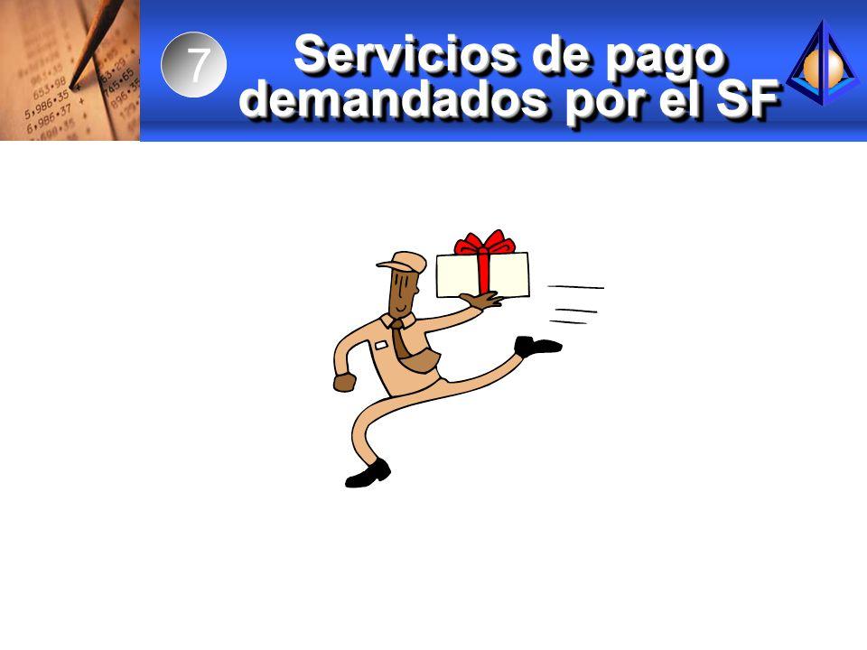Servicios de pago demandados por el SF