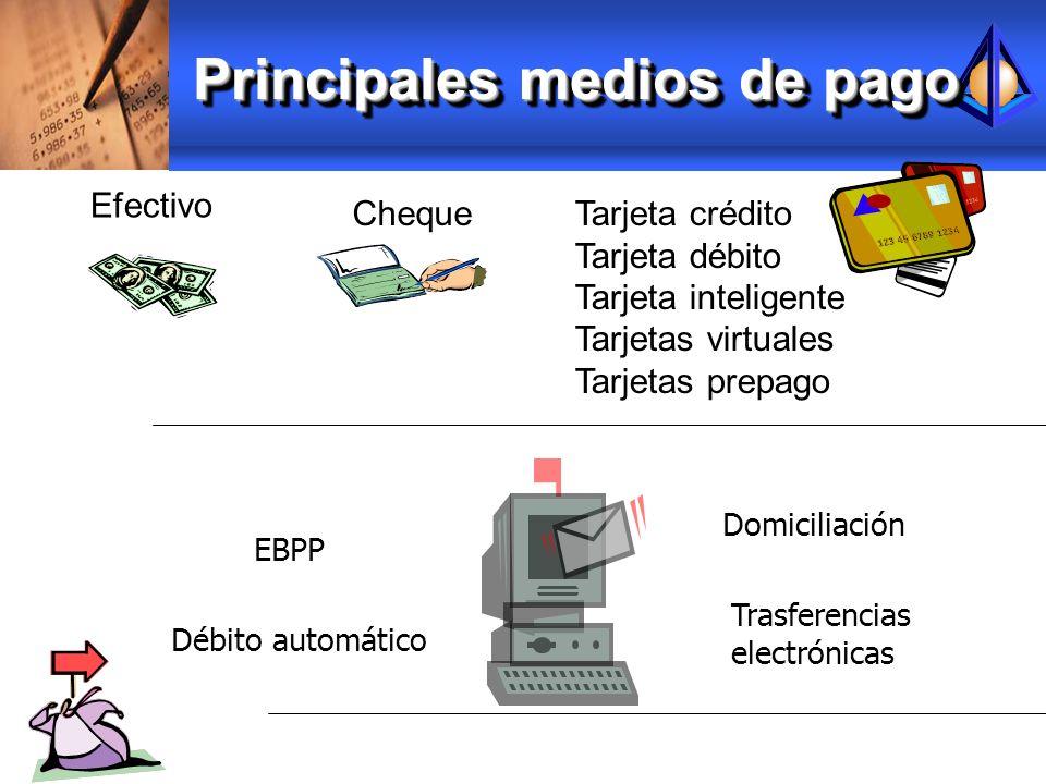 Principales medios de pago