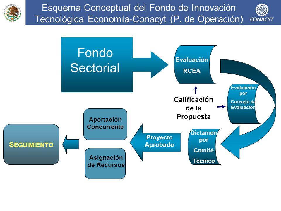 Esquema Conceptual del Fondo de Innovación Tecnológica Economía-Conacyt (P. de Operación)