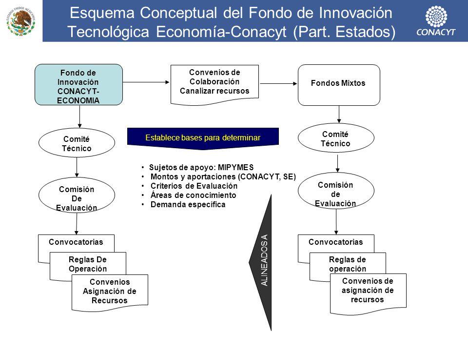Esquema Conceptual del Fondo de Innovación Tecnológica Economía-Conacyt (Part. Estados)