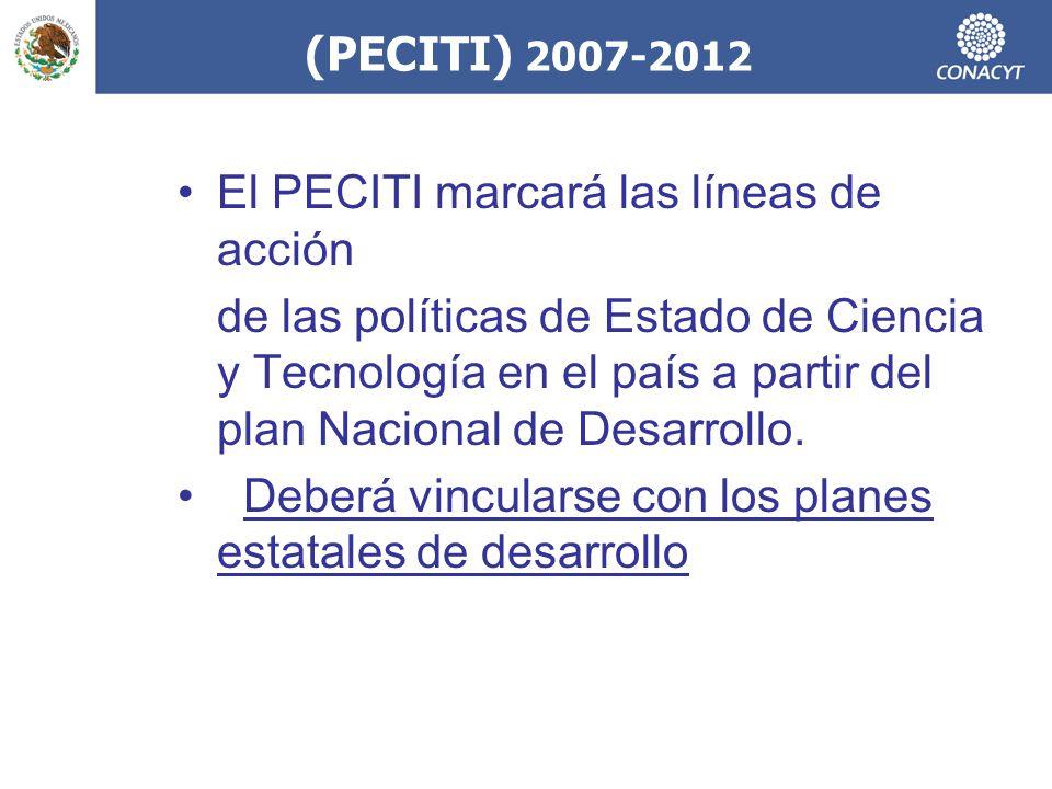 (PECITI) 2007-2012 El PECITI marcará las líneas de acción.