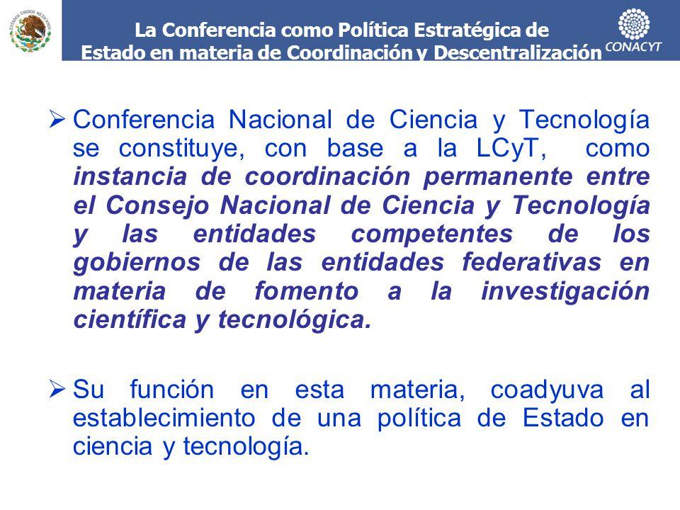 La Conferencia como Política Estratégica de Estado en materia de Coordinación y Descentralización