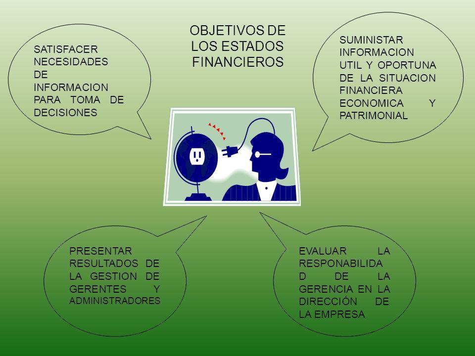 OBJETIVOS DE LOS ESTADOS FINANCIEROS