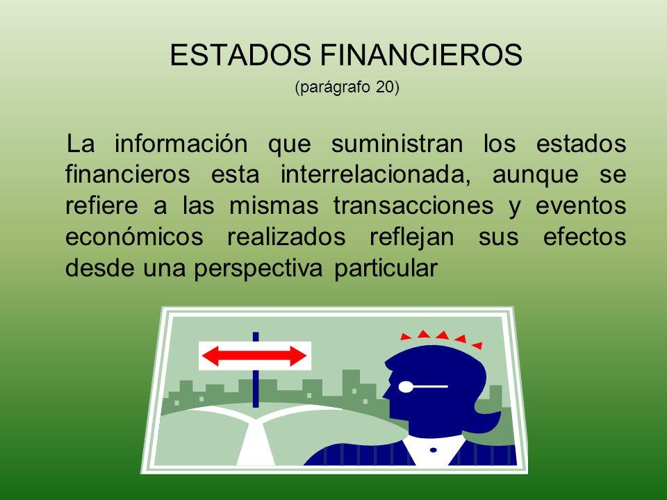 MARCO CONCEPTUAL ESTADOS FINANCIEROS. (parágrafo 20)