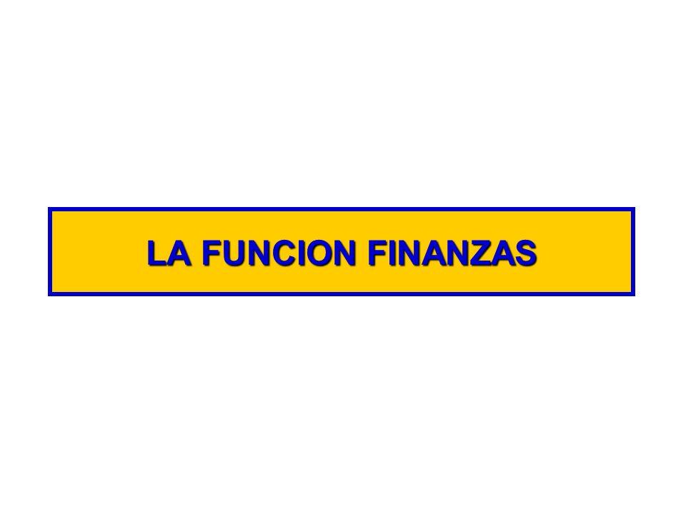 LA FUNCION FINANZAS