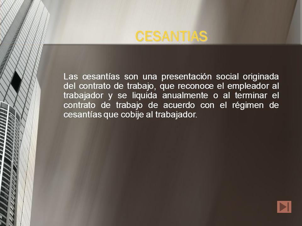 CESANTIAS