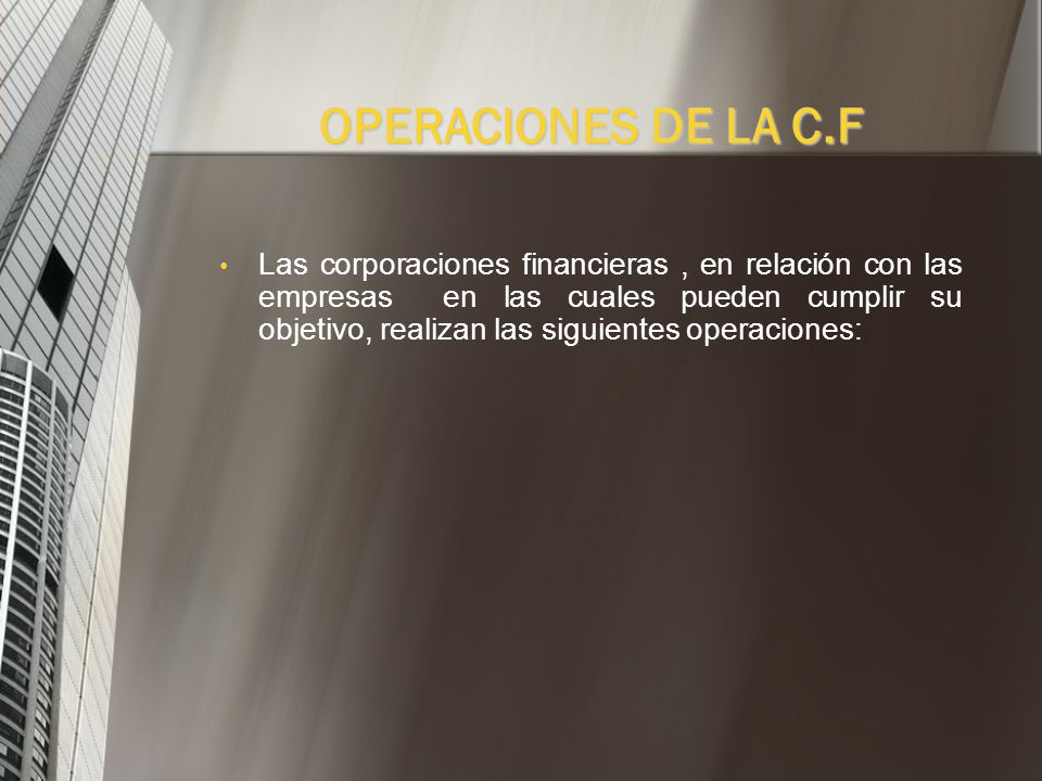 OPERACIONES DE LA C.F