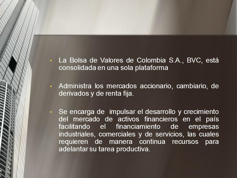 La Bolsa de Valores de Colombia S. A