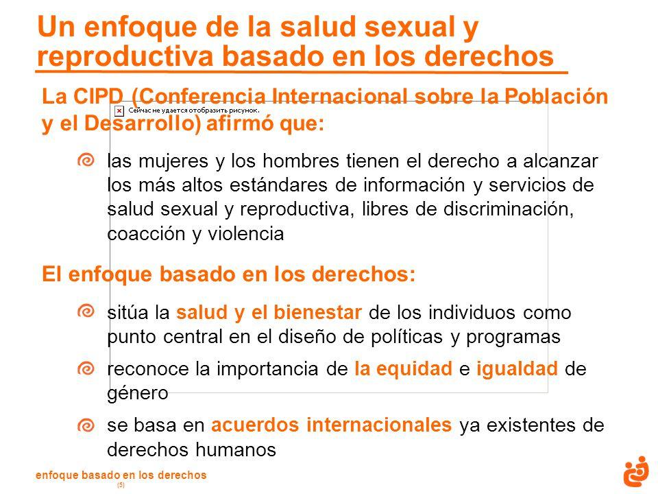 Un enfoque de la salud sexual y reproductiva basado en los derechos