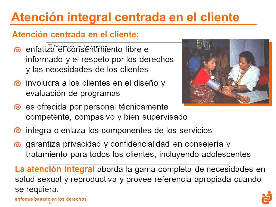 Atención integral centrada en el cliente