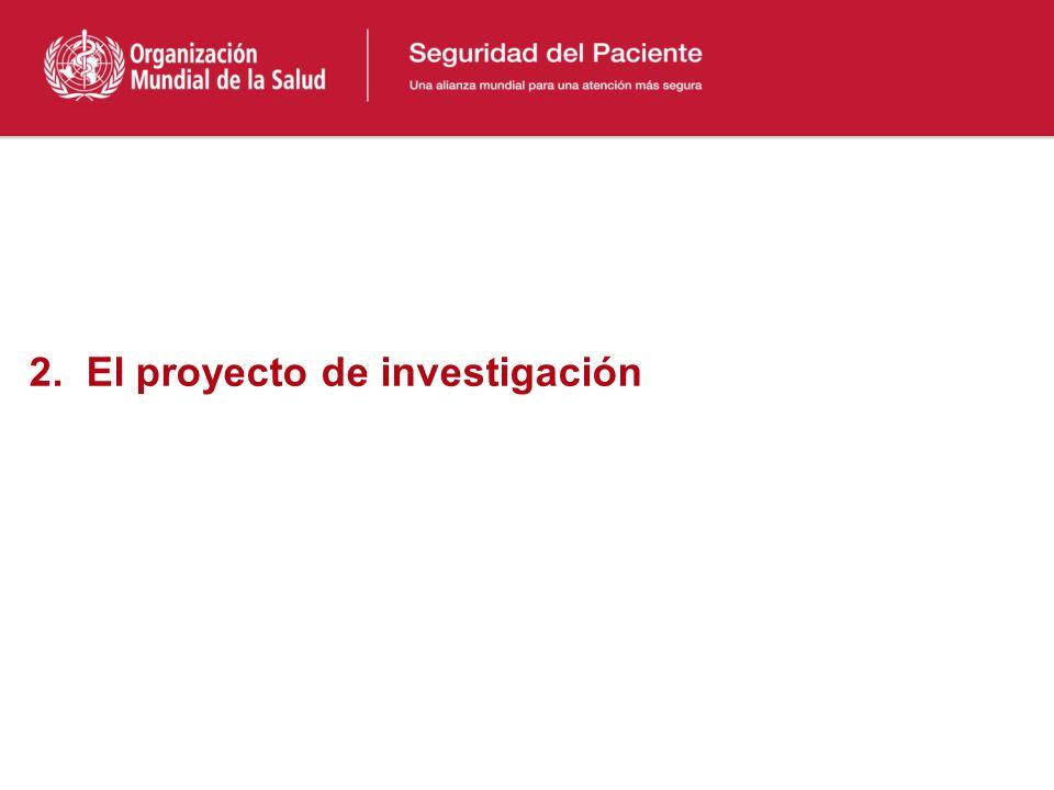 2. El proyecto de investigación