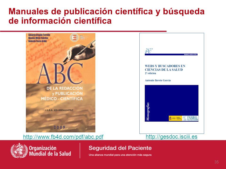 Manuales de publicación científica y búsqueda de información científica