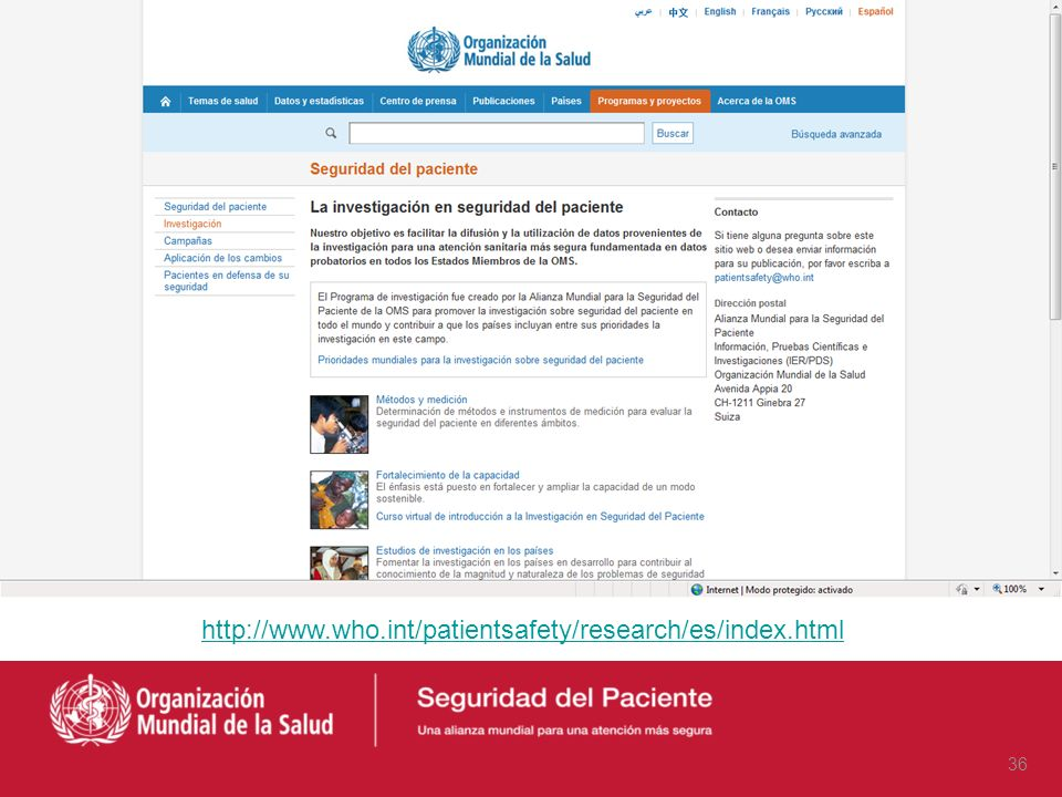 http://www.who.int/patientsafety/research/es/index.html