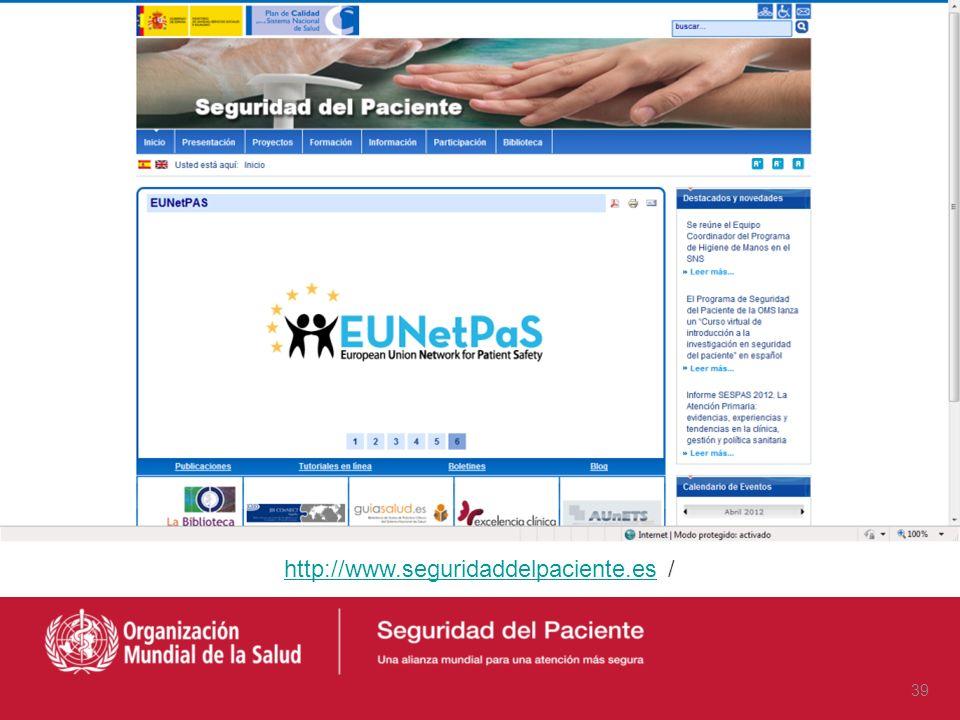 http://www.seguridaddelpaciente.es /