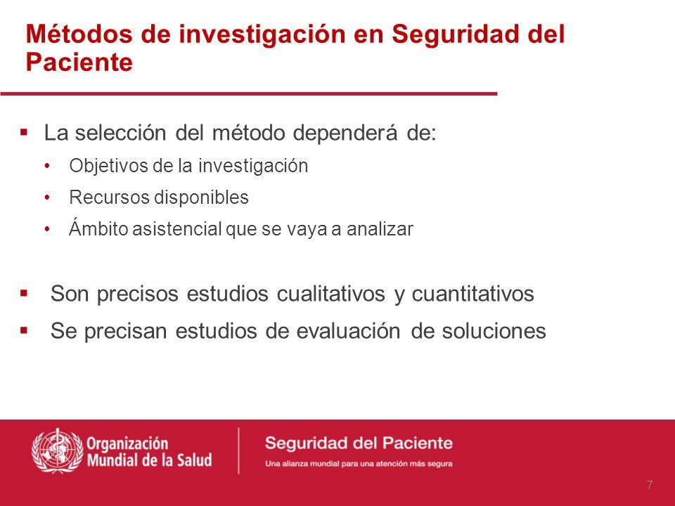 Métodos de investigación en Seguridad del Paciente