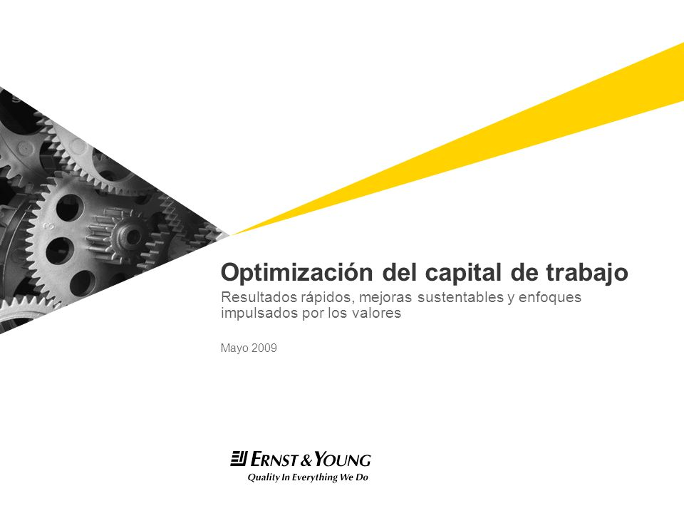 Optimización del capital de trabajo